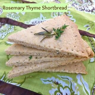 Rosemary Thyme Shortbread | Teaspoonofspice.com