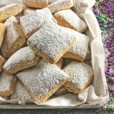 Try this healthier version of a Mardi Gras classic: Baked Beignets! Recipe at Teaspoonofspice.com