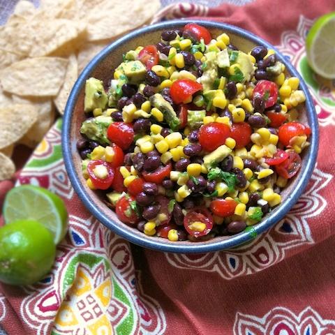 Black Bean & Corn Salsa for Cinco de Mayo