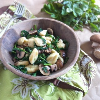 Pastalove: Gnocchi with Spring Greens & Crimini Mushrooms