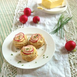 Salt Butter Radish Chive Biscuits   Teaspoonofspice.com