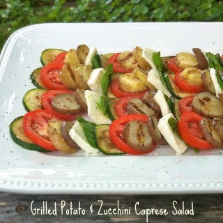Grilled Potato Zucchini Caprese Salad | Teaspoonofspice.com
