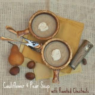 Cauliflower & Pear Soup with Roasted Chestnuts   TeaspoonofSpice.com