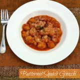 Homemade gnocchi is the easiest type of pasta to make! Recipe for Butternut Squash Gnocchi at Teaspoonofspice.com