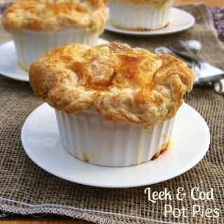 Leek & Cod Pot Pies | Teaspoonofspice.com