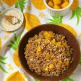 Tropical Breakfast Farro | Teaspoonofspice.com