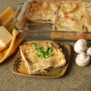 Cheesy Mushroom Lasagna - Teaspoonofspice.com