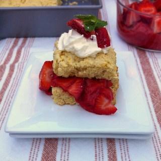 Light Rhubarb Strawberry Shortcake   Teaspoonofspice.com