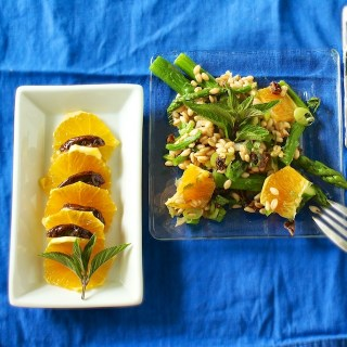 Orange Date Barley Salad with Mint