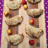 These mini cherry pies are fun to make and have built in portion control! Recipe at Teaspoonofspice.com