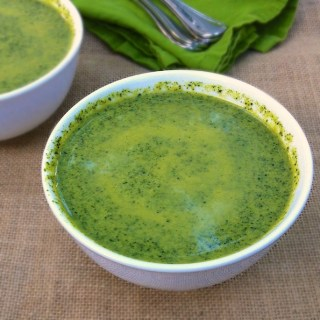 Cheesy Broccoli and Greens Soup