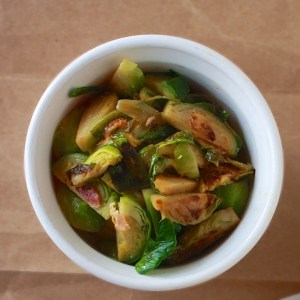 Bacon Braised Brussel Sprouts | Teaspoonofspice.com