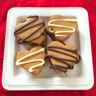 Chocolate Peanut Butter Heart Cookies