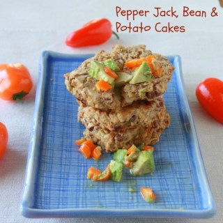 Pepper Jack, Bean and Potato Cakes