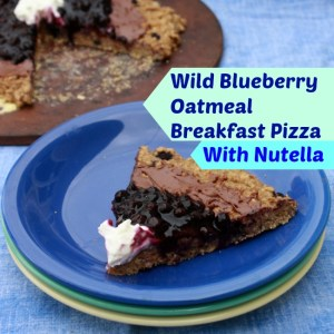 Wild Blueberry Oatmeal Pizza Nutella