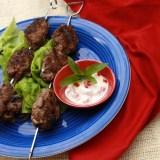 Grilled Mushroom & Beef Kofta | TeaspoonOfSpice.com