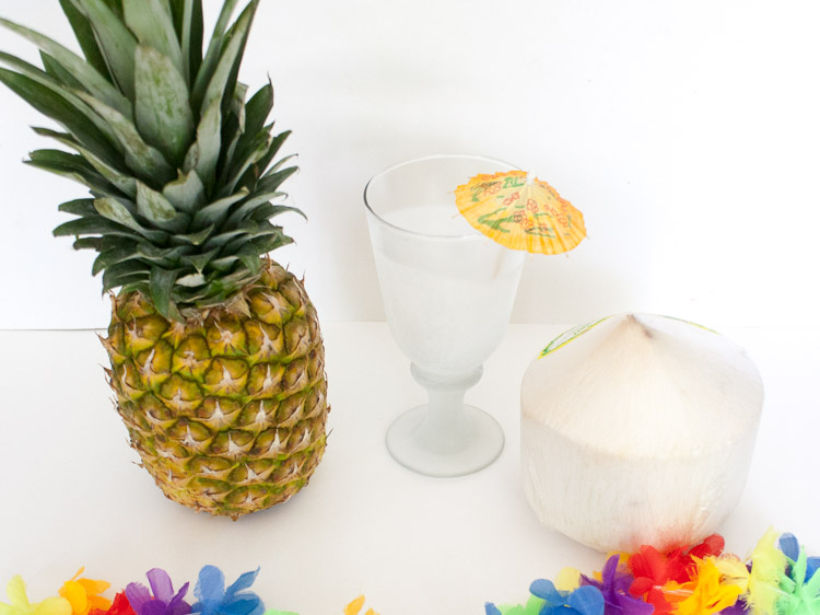 Fresh Coconut Pina Coladas | @TspCurry