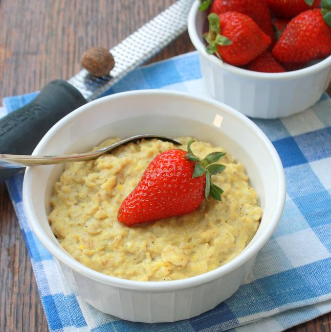 5 Minute Oatmeal Custard | TeaspoonOfSpice.com