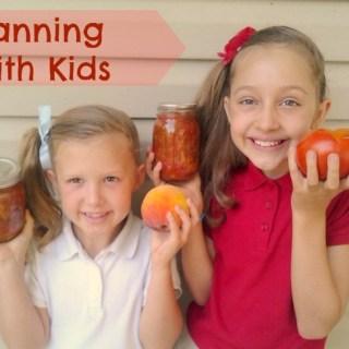 Canning with Kids + Peach Salsa | TeaspoonOfSpice.com