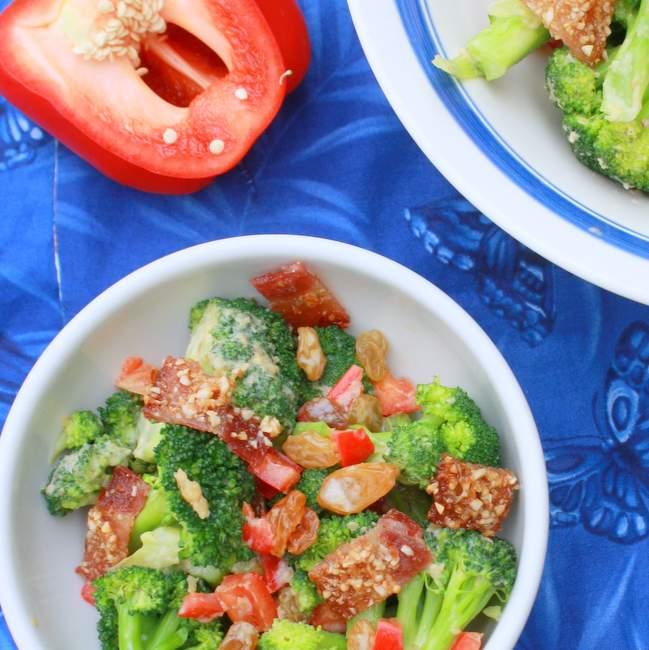Brown Sugar Bacon and Broccoli Salad