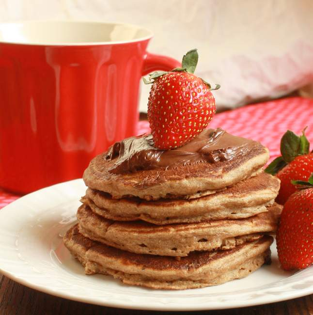 Chocolate Pancakes Kids can make