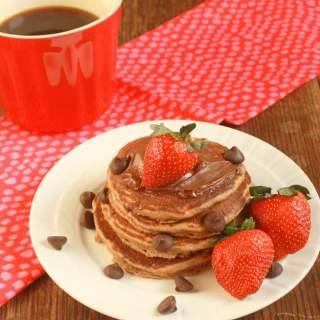 Chocolate Whole Wheat Pancakes