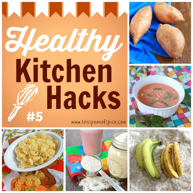 #HealthyKitchenHacks: How to Bake Potatoes in 20 minutes, How to Give Healthy Upgrade To Canned Tomato Soup, How to Ripen Bananas in 20 minutes, How to Make Homemade Protein Powder, How to Cut 10 Minutes Off Pasta Cooking Time