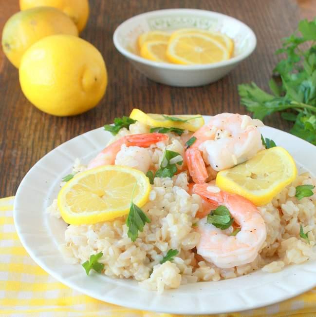 Shrimp Lemon Rice