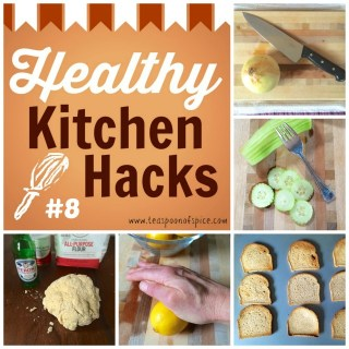 #HealthyKitchenHacks: How To Keep Cutting Board From Slipping, Make Your Cucumber Slices Fancy, Know Your Oven's Hot Spots, Get More Juice Out of Your Citrus, No Rise Pizza Dough via teaspoonofspice.com @tspbasil