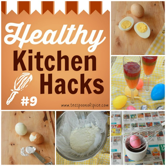 #HealthyKitchenHacks: The Perfect Hard Boiled Egg, Easier Way to Peel Eggs, Natural Dyes for Easter Eggs, Easy Way to Dip Eggs For Dying, 15-Minute Homemade Ricotta | Teaspoonofspice.com @tspcurry