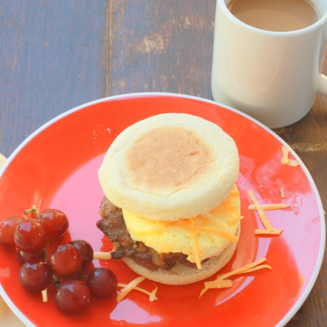 How to Make Jimmy Dean sausage egg sandwich copy cat