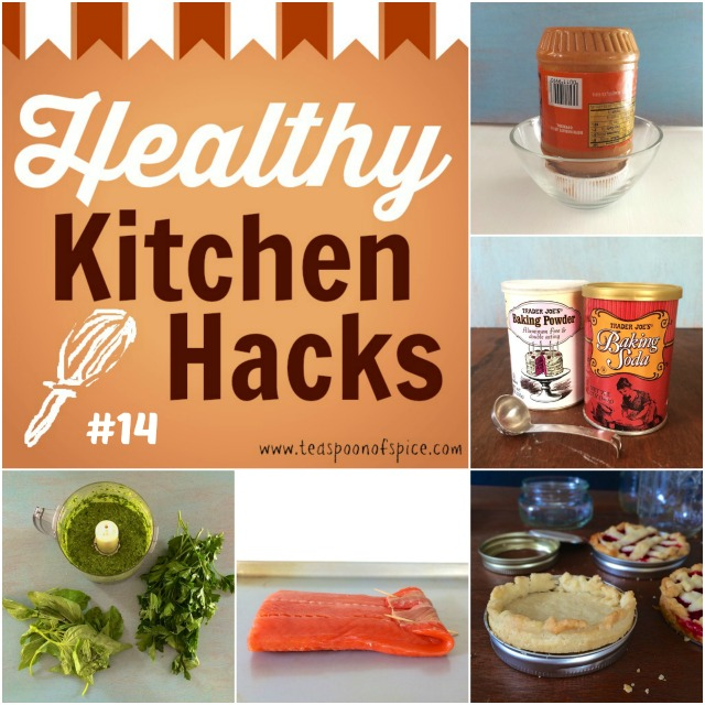 #HealthyKitchenHacks: How to Prevent Peanut Butter From Separating, Test Baking Powder & Baking Soda for Freshness, How To Make Mini Pies with Mason Jar lids, What to Do With Wilted Greens & Herbs, How to Cook Uneven Fish Fillets teaspooonofspice.com