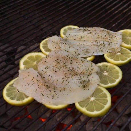 Healthy Kitchen Hacks: Use sliced lemons to grill fish for fantastic flavor and easy clean up! Teaspoonofspice.com @tspbasil