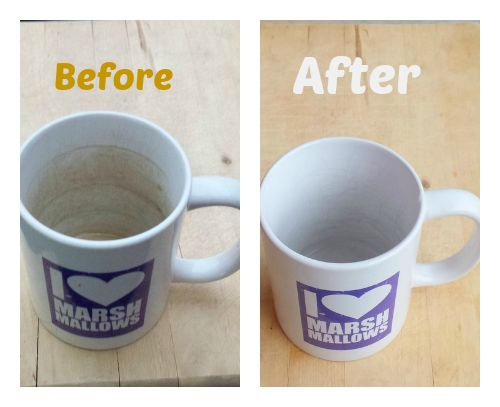 #HealthyKitchenHacks - How to clean stained coffee tea cups