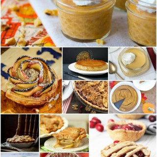 Recipe roundup of 12 delish yet healthier Thanksgiving desserts from HealthyAperture.com