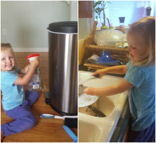 #HealthyKitchenHacks - tips for getting kids to help with cleaning | @TspCurry