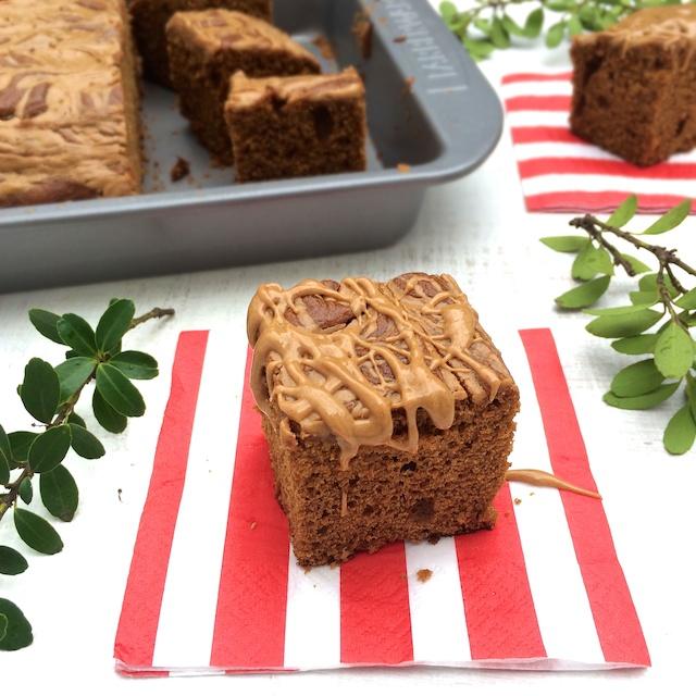 Peanut Butter Gingerbread | Teaspoonofspice.com