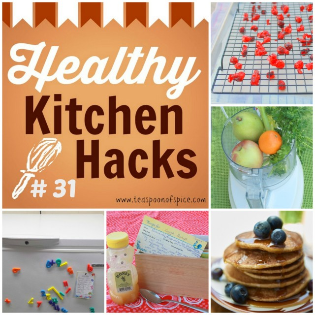 Fluffiest Pancakes * DIY Dried Cranberries * Natural Cough Remedy * Juice without a Juicer * Easy Kitchen Organization #HealthyKitchenHacks | @TspCurry