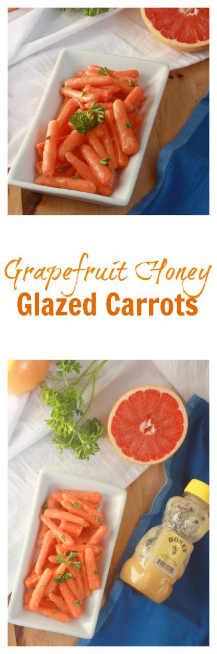 A sunny side dish: Grapefruit Honey Glazed Carrots | @tspcurry