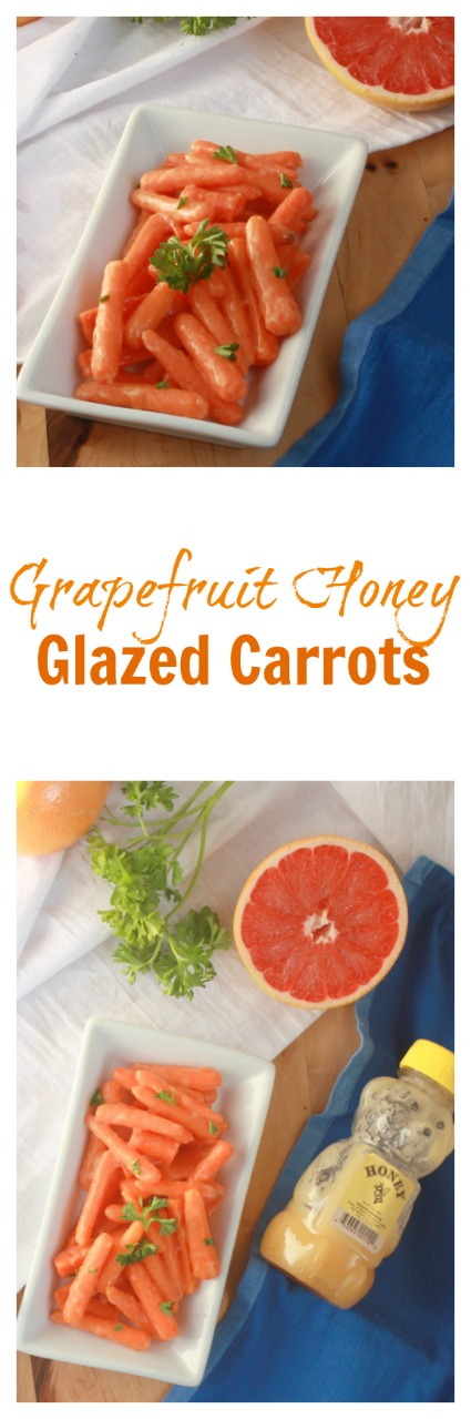 A sunny side dish: Grapefruit Honey Glazed Carrots | @tspcurry