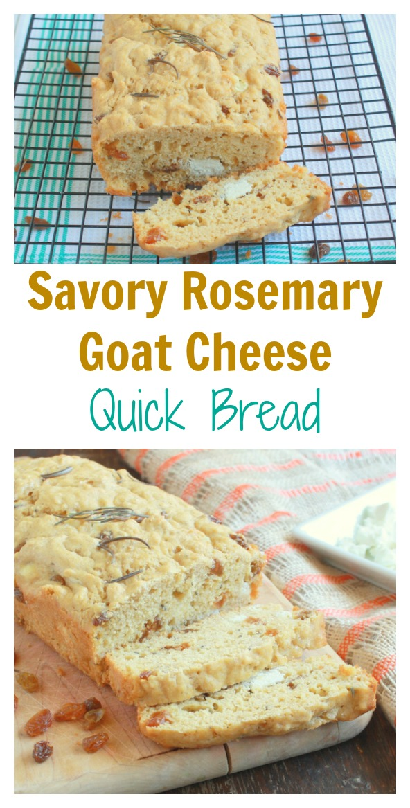Perfect for a pot of homemade soup: Savory Rosemary Goat Cheese Quick Bread | @tspcurry