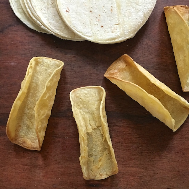 Healthy Kitchen Hacks - DIY Taco Shells in less than 10 minutes in your oven @tspbasil