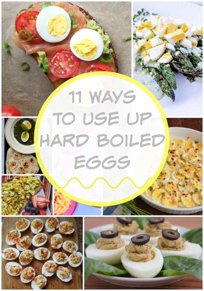 """Deviled Eggs: The classic way I think of when I want to use up hard boiled eggs. There are thousands of versions of this recipe and when I was looking up ideas may lists of """"hard boiled egg recipes"""" were just modified deviled eggs."""