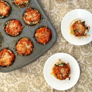 Mini Spaghetti Pizza Pies @tspbasil