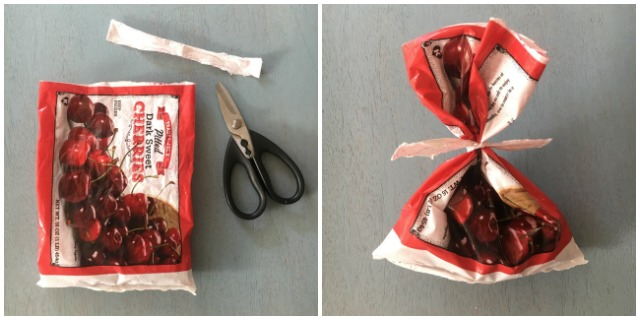 Healthy Kitchen Hacks - Easy Way To Close Frozen Fruit or Vegetable Bags @tspbasil