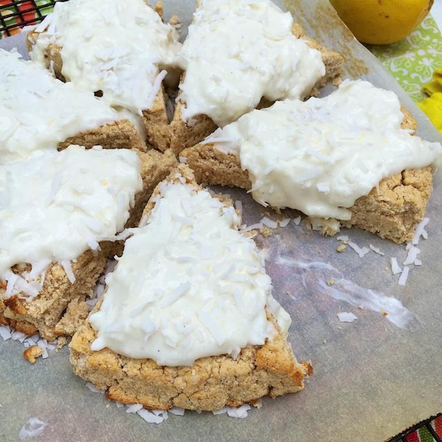 Lemon Coconut Scones   @TspBasil