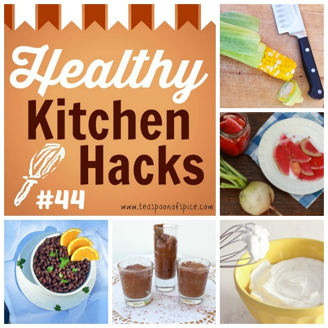#HealthyKitchenHacks - What is Aquafaba * Vegan Whipped Coconut Cream * Corn Shucking Hack * Tips for Packing a Picnic * Better Black Beans | @TspCurry