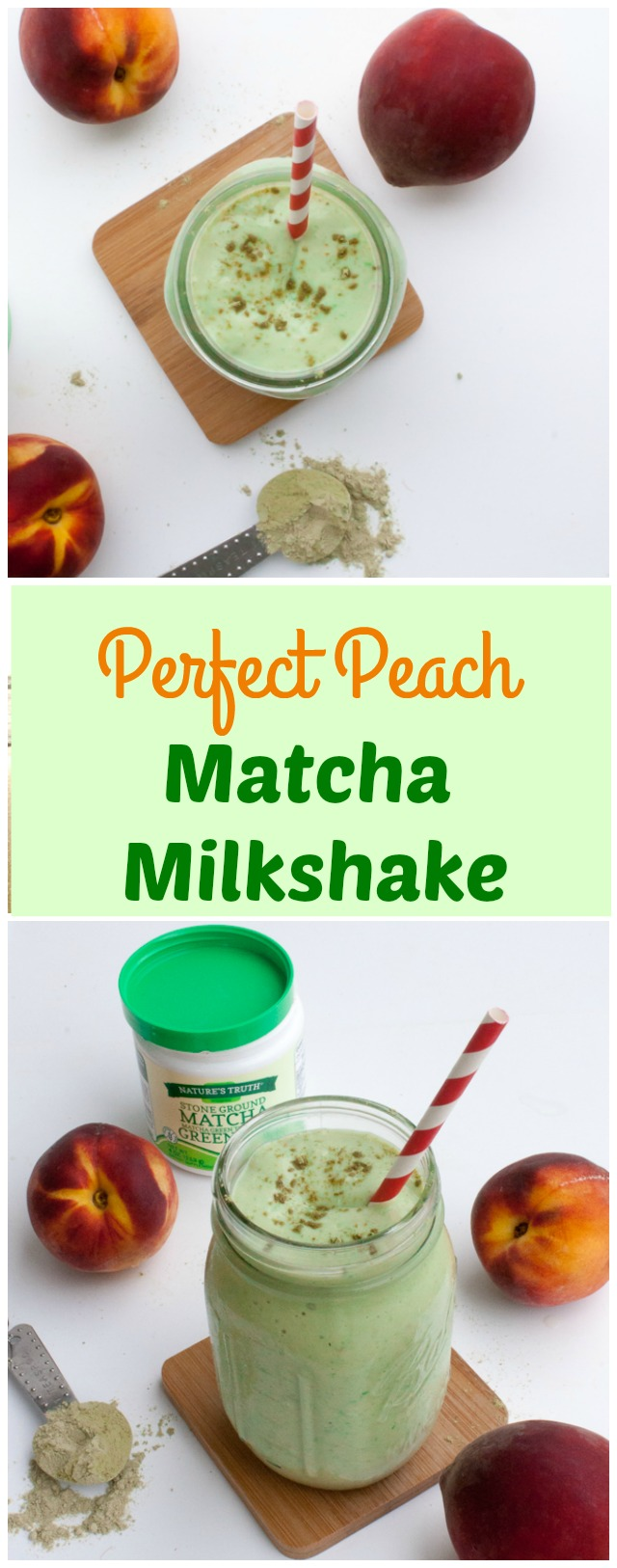 Stimulate your brain + keep calm: PERFECT PEACH MATCHA PROTEIN MILKSHAKE | @tspcurry