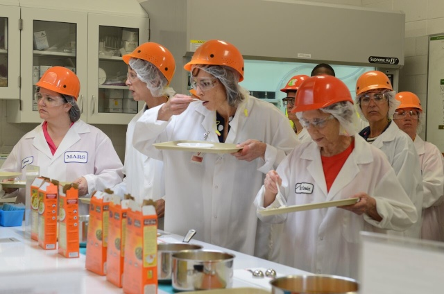 Taste testing in kitchens at Greenville, MS plant (courtesy of #sponsored Uncle Ben's Rice Tour)