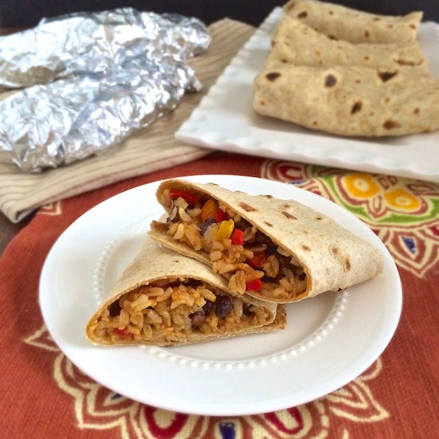 Make these homemade burritos. Freeze and heat in microwave for quick breakfasts!